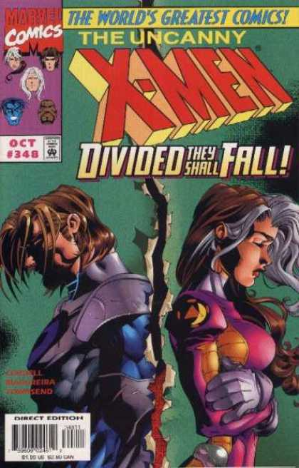 Uncanny X-Men 348 - Rogue - Gambit - X-men - Divided - Torn - Joe Madureira