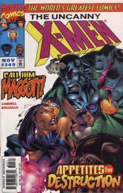 Uncanny X-Men 349 - Maggott - World Greatest Comics - Marvel Comics - Lobdell Sachalo - Appetites For Destruction