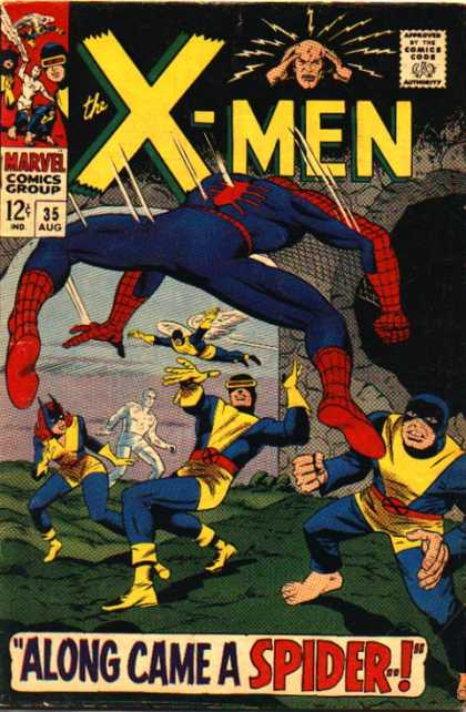 Uncanny X-Men 35 - Angel - Cyclops - Beast - Iceman - Spiderman