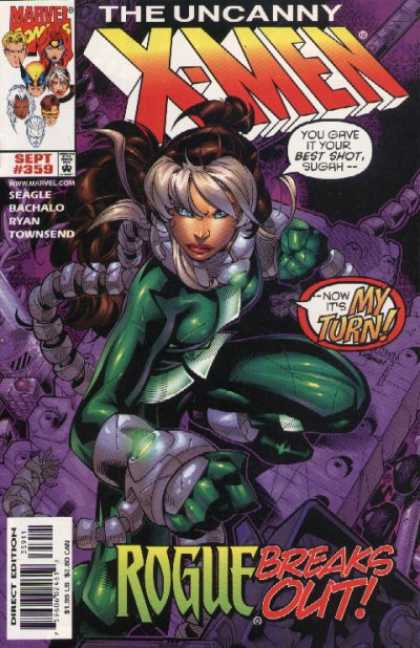 Uncanny X-Men 359 - Rogue - Now Its My Turn - Green Super Hero - Hot Super Hero - Women Super Hero - Chris Bachalo
