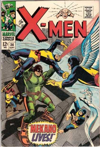 Uncanny X-Men 36 - Mekano - Angel - Iceman - Cyclops - Beast - Ross Andru