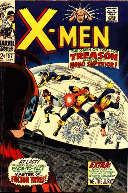 Uncanny X-Men 37 - Homo Superior - Cyclops - Angel - Beast - Iceman