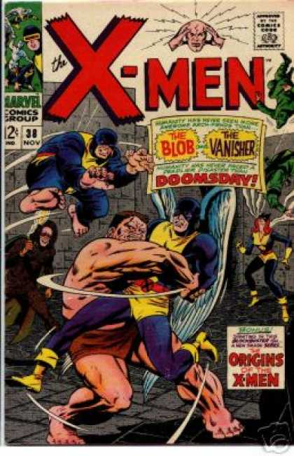 Uncanny X-Men 38 - Doomsday - Blob - Vanisher - Beast - Cyclops