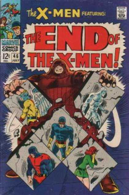 Uncanny X-Men 46 - Juggernaut - Cyclops - Iceman - Beast - Angel