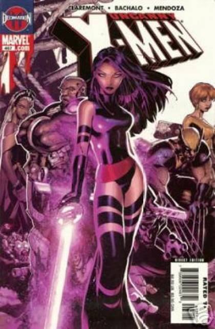 Uncanny X-Men 467 - Females - Weapons - Purple Clothes - Metal - Swords - Chris Bachalo