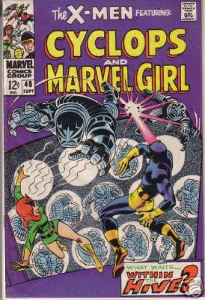 Uncanny X-Men 48 - Cyclops - Hive - Marvel Girl - What Waits Within The Hive - Spacemen Mid-air - Sal Buscema