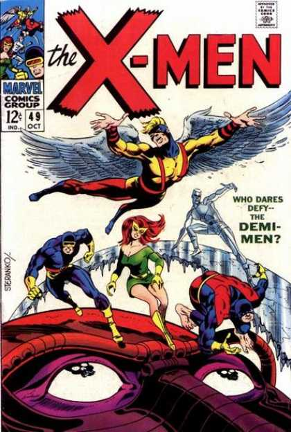 Uncanny X-Men 49 - Iceman - Angel - Demi-men - Beast - Cyclops - Jim Steranko