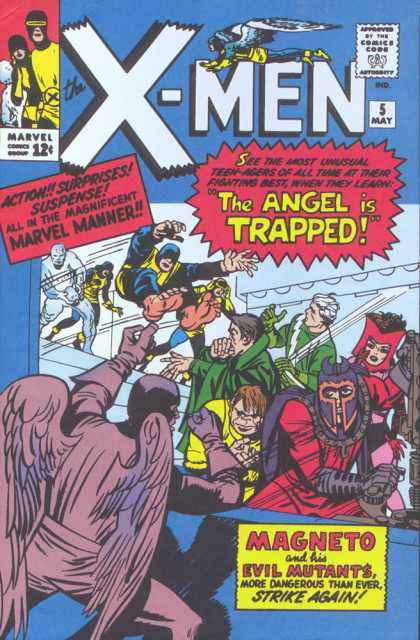 Uncanny X-Men 5 - Magneto - Angel - Trapped - Marvel - Evil Mutants - Jack Kirby