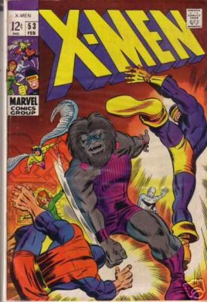 Uncanny X-Men 53 - Silver Surfer - Iceman - Beast - Cyclops - Angel - Barry Windsor-Smith