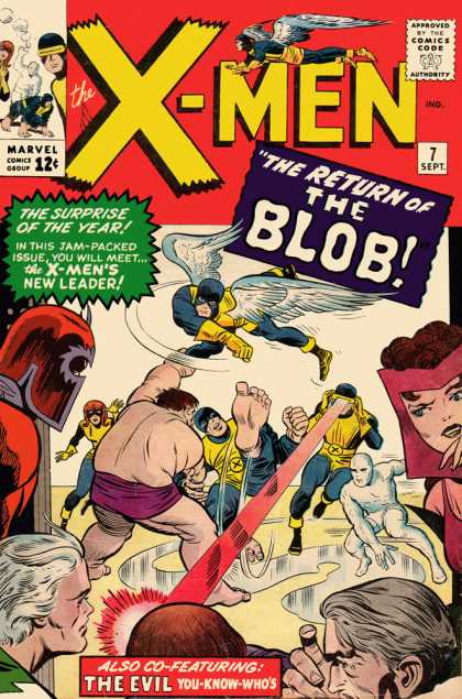 Uncanny X-Men 7 - Blob - Angel - In This Jam-packed Issues You Will Meet - The X-mens New Leader - The Surprise Of The Year - Charles Stone, Jack Kirby