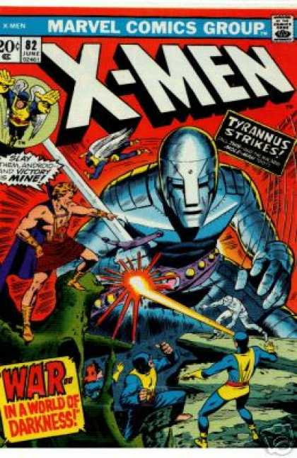 Uncanny X-Men 82 - Marvel - Tyrannus Strikes - Costumes - Superheroes - War In The World Of Darkness