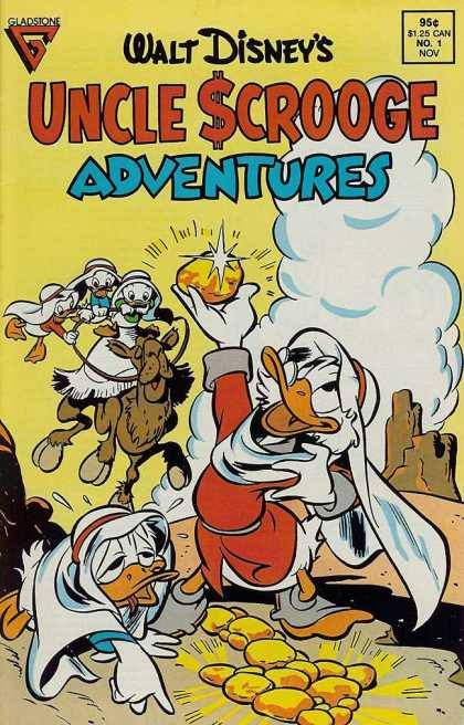 Uncle Scrooge Adventures 1 - Gold - Uncle Scrooge - Donald Duck - Camel - Nephews