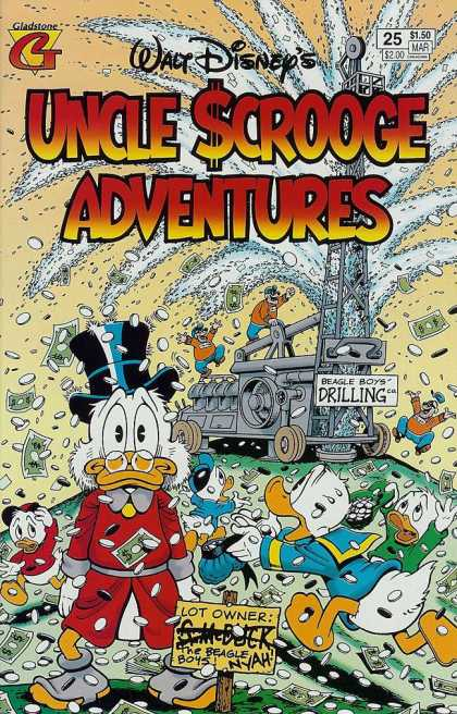 Uncle Scrooge Adventures 25 - Beagle Boys - Drilling - Lot Owner - Coins - Bills