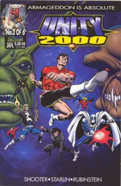 Unity 2000 3 - January - Armageddon Is Absolute - Shooter - Starlin - Rubinstein - Jim Starlin