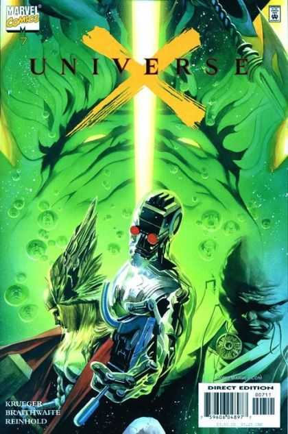 Universe X 7 - Robotic Man - Woman With Winged Helmet - Kruger - Reinhold - Marvel Comics - Alex Ross