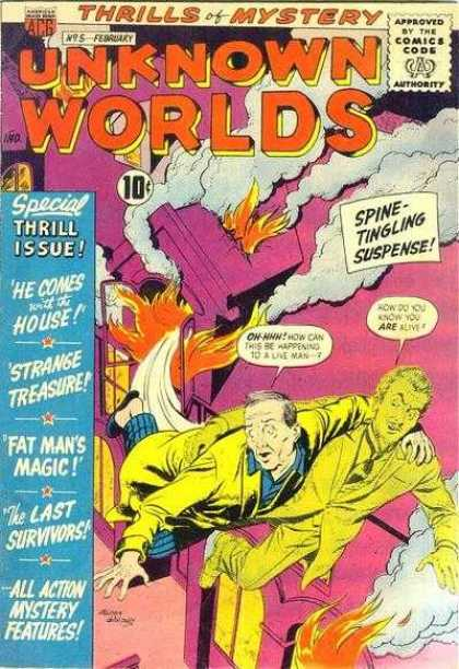 Unknown Worlds 5 - Thrill Issue - He Comes With The House - Strange Treasure - Fat Mans Magic - The Last Survivors