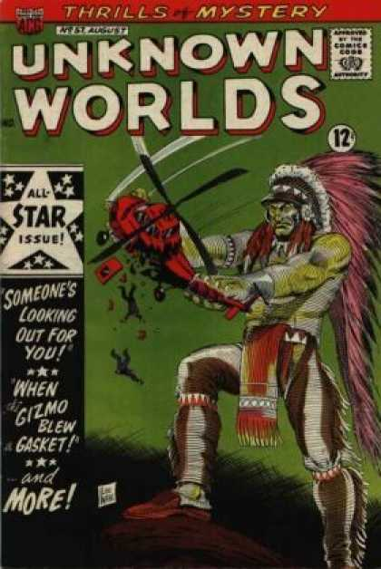 Unknown Worlds 57 - Thrills And Mystery - All-star Issue - Classic Comics - Issue 57 - Giant Indian
