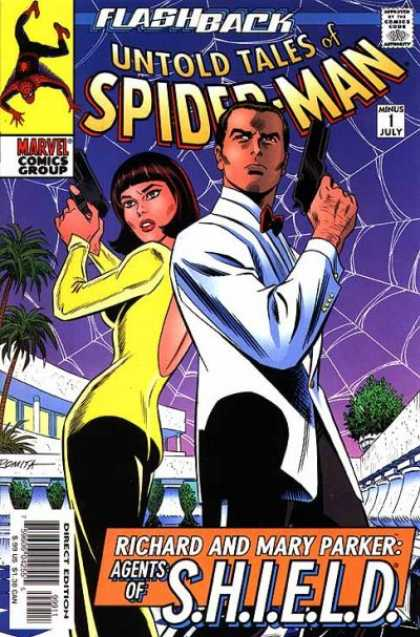 Untold Tales of Spider-Man 1 - Flashback - Marvel - Web - Guns - Woman