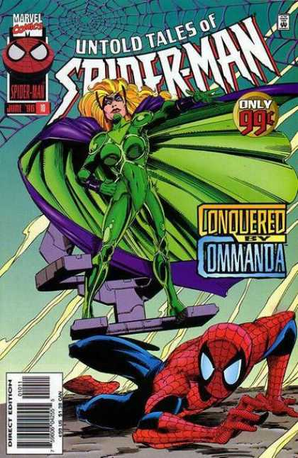 Untold Tales of Spider-Man 10 - Spider-man - Superheroe - Mutant - Fighting - Green Costume