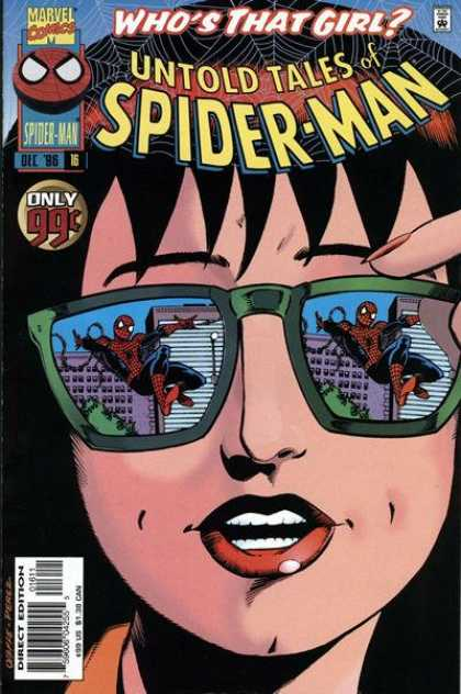 Untold Tales of Spider-Man 16 - Sunglasses - Girl - Reflection - Buildiings - That - George Perez