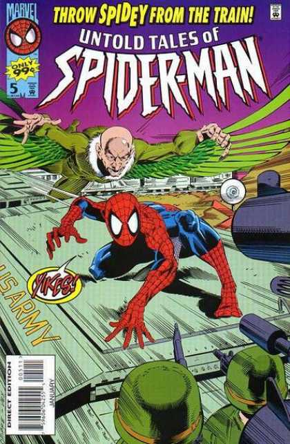 Untold Tales of Spider-Man 5 - Vulture - Train - Throw Spidey From The Train - Army - Guns