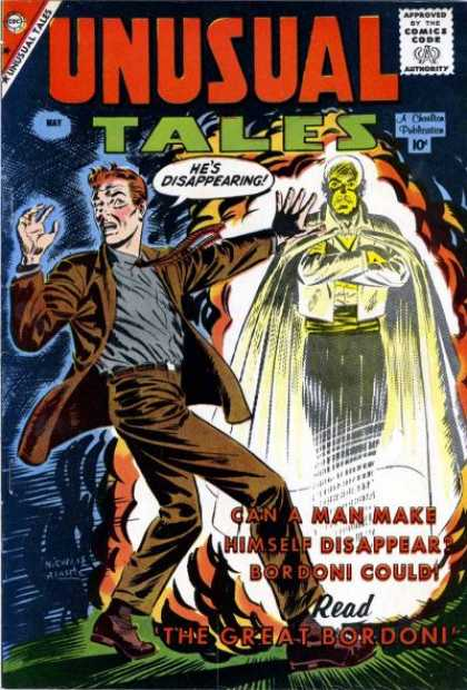Unusual Tales 16 - Approved By The Comics Code - Hes Disappearing - May - Man - Cloak