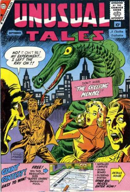 Unusual Tales 18 - Comics Code - Women - Men - Monster - City