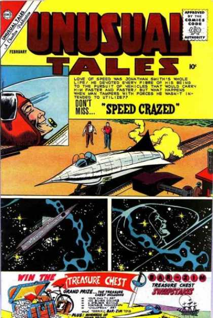 Unusual Tales 26 - Speed Crazed - Jet - Space - Ship - Sword