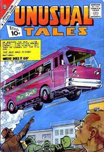 Unusual Tales 29 - Approved By The Comics Code - Bus - Man - House - Sky
