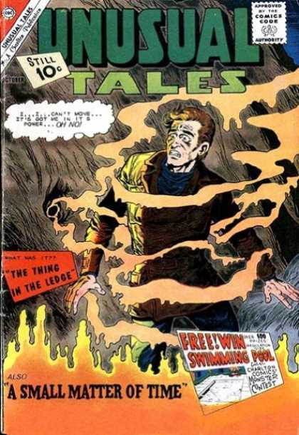Unusual Tales 30 - 10 Cents - A Small Matter Of Time - The Thing In The Ledge - Comics Code Authority - Gas Fumes