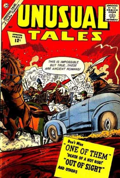 Unusual Tales 33 - Ancient - Romans - Horses - Sword - Car