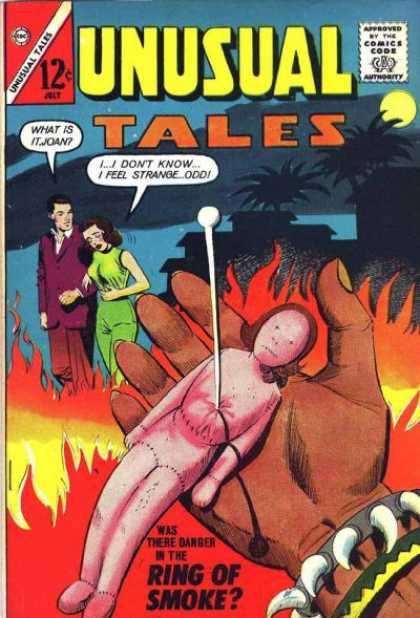 Unusual Tales 40 - Voodoo Toy - Sick Woman - Man - Fire - Night