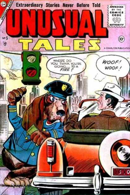 Unusual Tales 5 - Traffic Light - Police - Dog - Man - 10 Cents