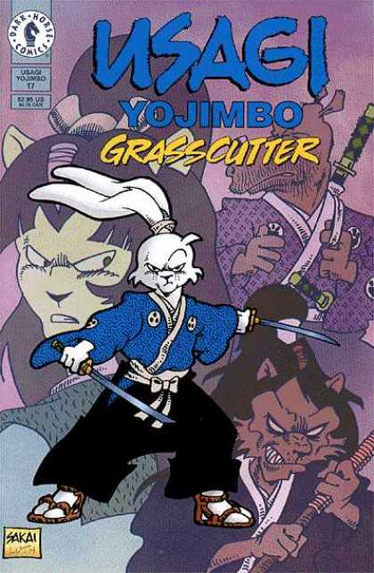Usagi Yojimbo 17 - Grasscutter - Rabbit - Sword - Dark Horse Comics - Sakai - Stan Sakai, Tom Luth