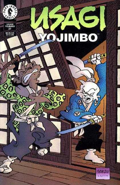 Usagi Yojimbo 27 - Ninja - Sword - Screen Door - Japanese - Fight - Stan Sakai, Tom Luth