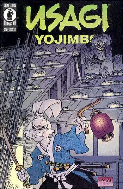 Usagi Yojimbo 35 - Rabbit - Sword - Katana - Lantern - Houses - Stan Sakai, Tom Luth