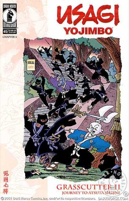 Usagi Yojimbo 45 - Grasscutter Ii - Journey To Atsuta Shrine - Darkhorse - Issue 45 Chapter 6 - Samurai - Stan Sakai, Tom Luth