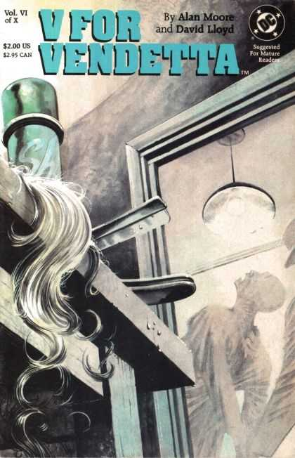 V for Vendetta 6 - Operating Room - Long White Hair - Bright Light - Operating Table - Forceful Action - David Lloyd