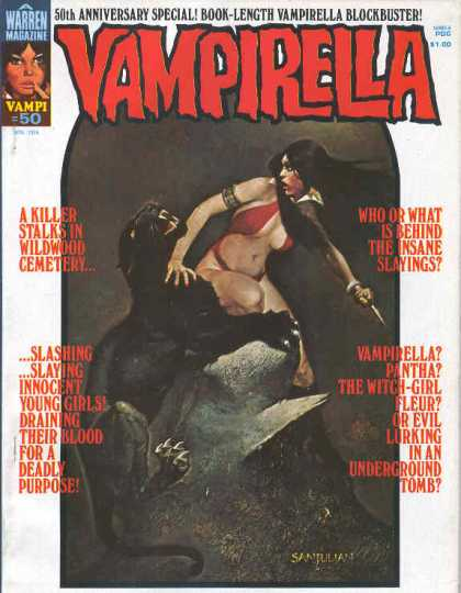 Vampirella 50 - Panther - Black Panther Attacking A Woman - A Killer Stalks - Slashing - Slaying