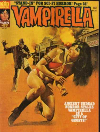 Vampirella 57 - Warren Magazine - Horror - Ancient Undead - City Of Ghosts - Fire
