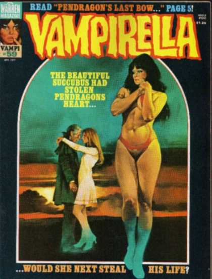 Vampirella 59 - Woman - Man - Sky - His Life - Warren