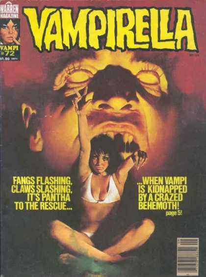 Vampirella 72 - Warren Magazine - Vampi 72 - White Bikini - Fangs - Black Hair