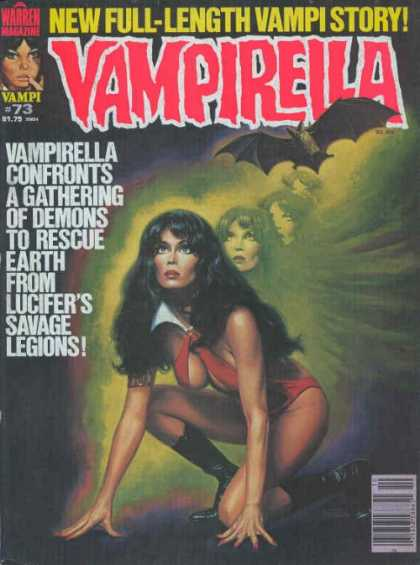 Vampirella 73 - Bat - Vampirella - Confronts - A Gathering - Of Demons