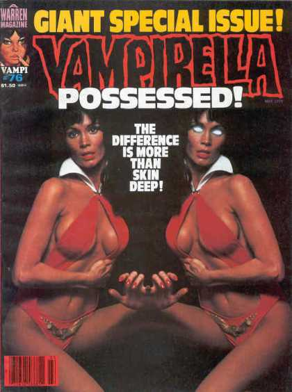 Vampirella 76 - Possessed - Warren Magazine - Red Suit - White Collar - Giant Special Issue