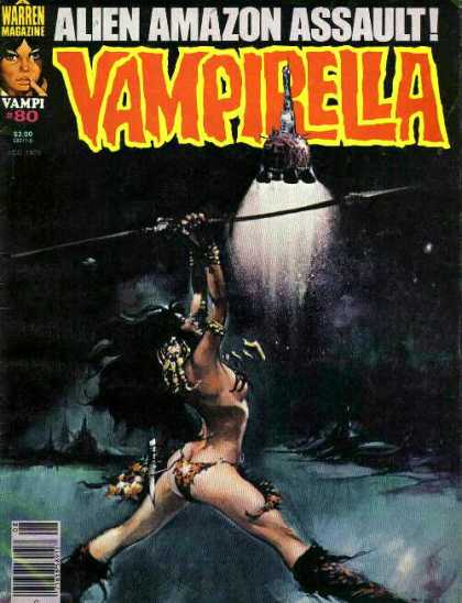Vampirella 80 - Sword - Weapon - Girl - Light - Robot