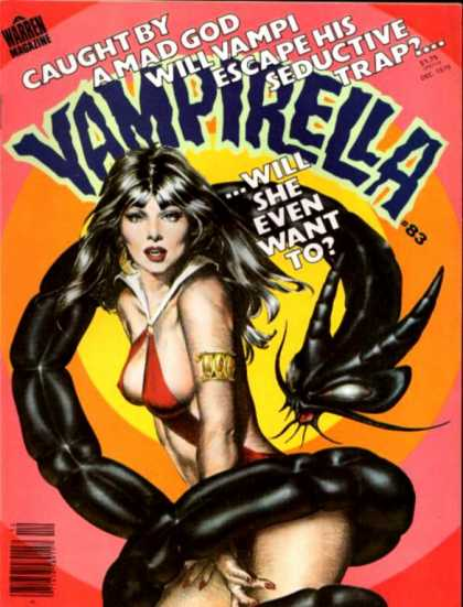 Vampirella 83 - Vampirella - Mad God - Escape His Trap - Warren Magazine - 83