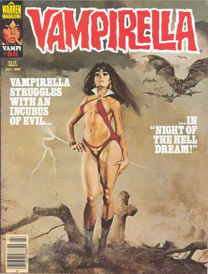 Vampirella 88 - Warren Magazine - Vampirella - Night Of The Hell Dream - Pin-up - Issue 88