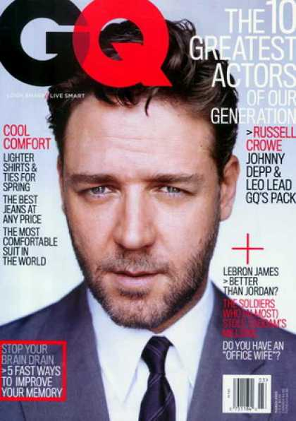 Various Magazines - GQ