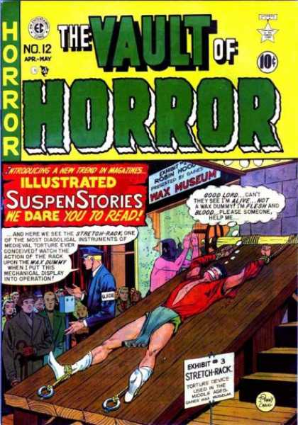 Vault of Horror 12 - Illustrated Suspense Stories - Wax Museum - Robin - Exhibi - Stretch-rack