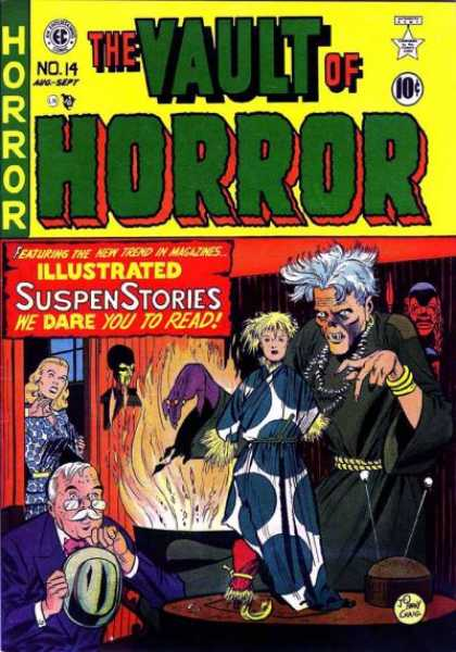 Vault of Horror 14 - Suspense Stories - Witch Doctor - Cauldron - Doll - Hat